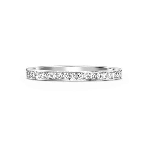 Brilliant cut diamond grain set half eternity ring in platinum, 1085,  [product_GENDER]