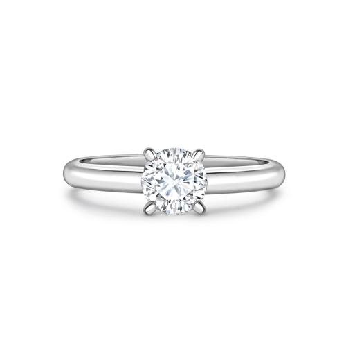Brilliant cut diamond four claw solitaire ring in platinum, 1408,  [product_GENDER]