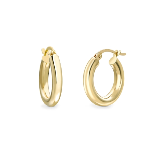 9ct yellow gold round profile chubby hoop earrings, 2144,  [product_GENDER]