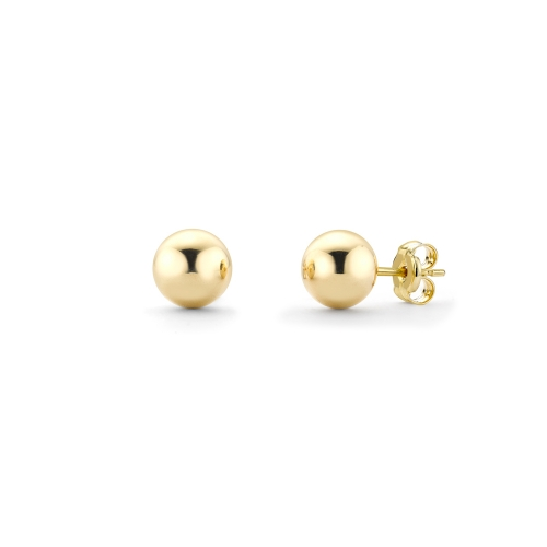 18ct yellow gold round ball stud earrings, 2805,  [product_GENDER]