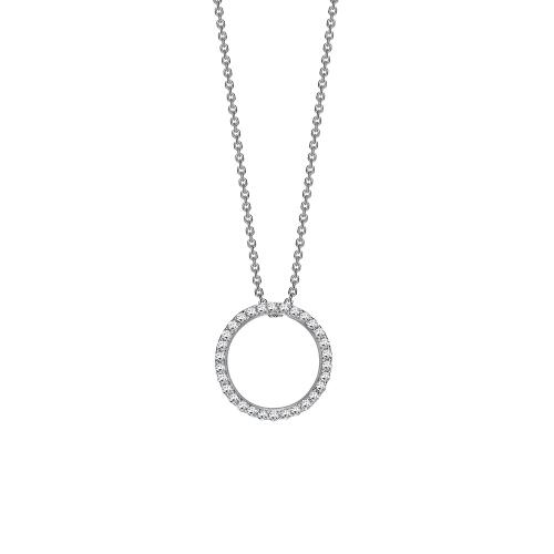 Brilliant cut diamond eternity pendant in 18ct white gold, 864,  [product_GENDER]