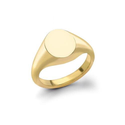 Deakin & Francis oval head signet ring 10.5 x 8.5mm, DF54,  [product_GENDER]