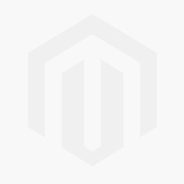 Ruby & diamond rubover set trilogy ring in 18ct white gold